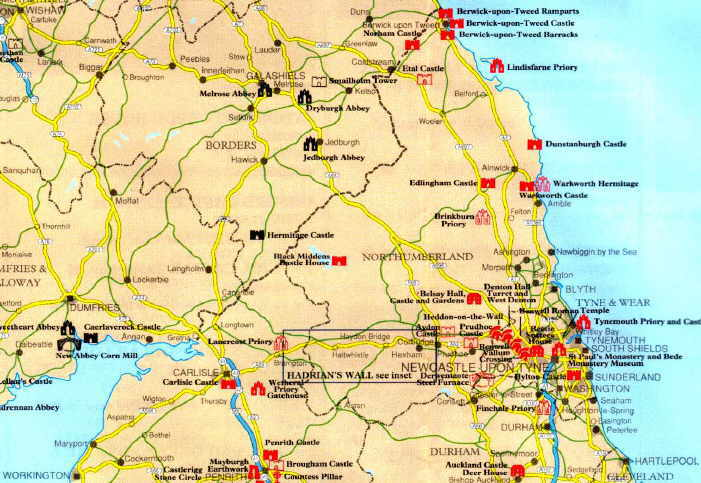 northern england map image collections
